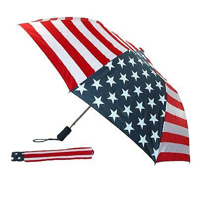 New Rainkist Wind Resistant American Flag Automatic Umbrella