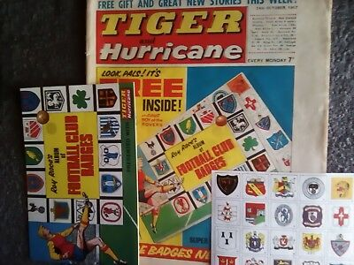 Tiger & Hurricane comic - October 14th. 1967, with both free gifts !