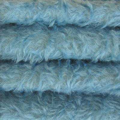 """1/6 yd 325S/C Bluebell INTERCAL 5/8"""" Semi-Sparse Curly German Mohair Fur Fabric"""