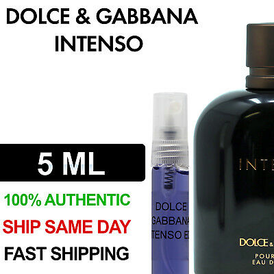 d90a5e40 Dolce & Gabbana Pour Homme Intenso Eau De Parfum EDP Men 5ml Decant Bottle  Spray