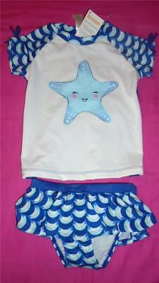 NEW Girls Size 5T Gymboree Outlet Swimsuit Starfish Rash Guard & Bottoms NWT