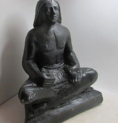 Lovely Ancient Egyptian Style Figurine Of A Seated Ruler