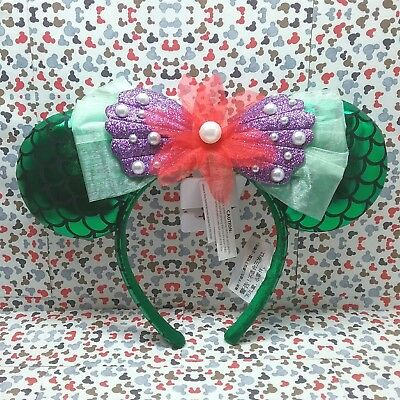 Ariel Headband Ears 2018 Disney Little Mermaid Mickey Minnie Mouse NWT