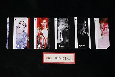 2018 MTA x David Bowie Limited Edition Metro Card Metrocard Set Of 5 Ships Now