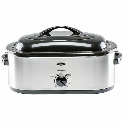 Oster Stainless-Steel 26-Pound Turkey Roaster Oven, 20-Quart Capacity