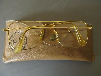 occhiali  Ray-Ban  Bauch & Lomb U.S.A 52-16 placcatura oro 18kt