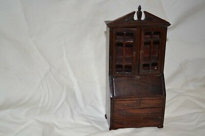 Old Vintage Wooden Dollhouse Furniture Hutch (spear accent)