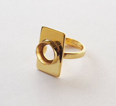 Golden Ring Blanks Bases Crafts  Jewelry Supply