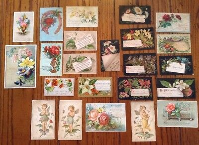Lot Antique Vintage Victorian Trade Cards Religious Theme Great For Scrapbooking