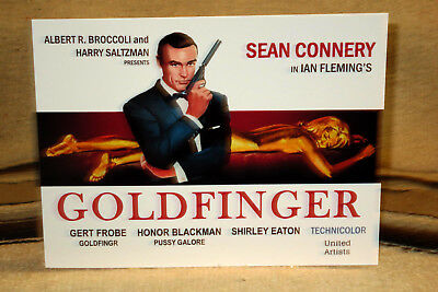 """James Bond 007 Sean Connery """"Goldfinger"""" Poster Tabletop Display Standee"""