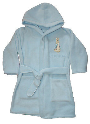 Boys Peter Rabbit Luxury Personalised Fleece Dressing gown/Bath robe