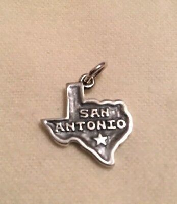 JAMES AVERY SAN ANTONIO TEXAS charm pendant sterling silver