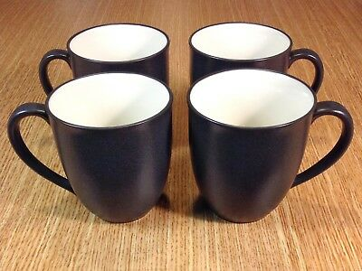 NORITAKE COLORWAVE GRAPHITE Coffee Mug 8034 Dark Gray with White ...