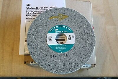 "3M Scotch-Brite EXL Deburring Wheel 6"" x 1/2"" x 1"" 9S Fine Hard Silicon Carbide"