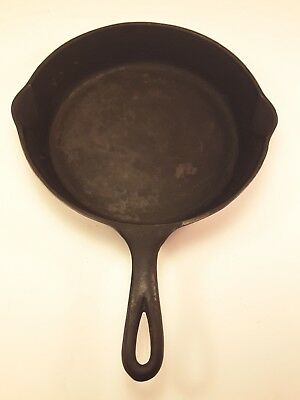 "Vintage WAGNER WARE 8 SYDNEY - 0 - 10"" CAST IRON SKILLET FRY PAN double spout"