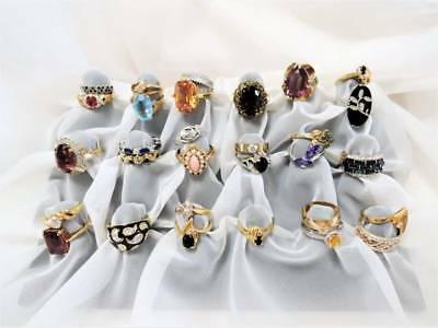 Stunning Estate Lot Of 30 Ladies Coctail Vintage Rings*sterling*w. Germany+++