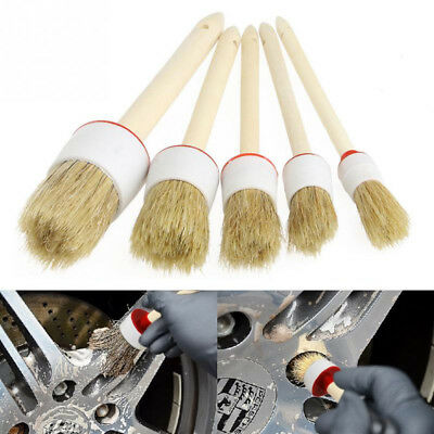 5 Size Plastic Handle Car Brushes For Interior Detailing Dashboard Rims Wheel Hd