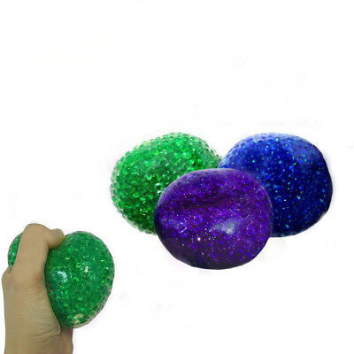 Bead filled squeeze sensory stress ball tactile fidget toy autism therapy