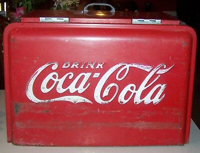 Vintage 1930's  Raised Letters, Westinghouse 1936-37 Coca Cola Chest Ice.Cooler