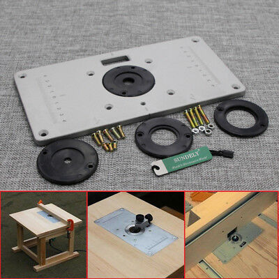 235 x 120 x 8mm woodworking aluminum router table insert plate with 235 x 120 x 8mm aluminum router table insert plate with ring for woodworking greentooth Images