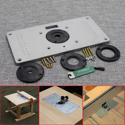 235x120x8mm aluminum router table insert plate insert ring 235 x 120 x 8mm aluminum router table insert plate with ring for woodworking keyboard keysfo Choice Image