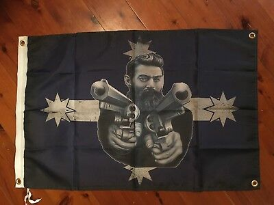 ned kelly print man cave flag outlaw bike bush ranger poster biker  Ned kelly