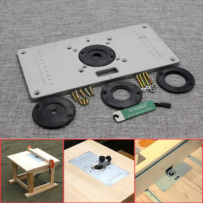 Aluminium Router Table Insert Plate 235 x 120 x 8mm For Woodworking Bench New