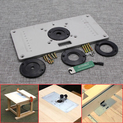 235 x 120 x 8mm aluminum router table insert plate with ring for aluminum router table insert plate 2351208mm for woodworking bench plate tool keyboard keysfo Gallery