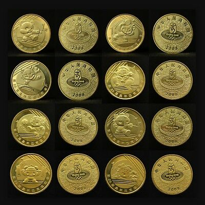 China commemorative coin 1 yuan 2008. Beijing Olympic Games. 8 coins 1 set