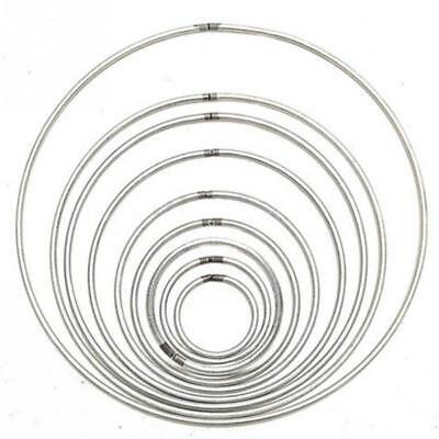 Metal Rings Large Silver Round Wall Hanging Hoops Dreamcatcher Crafts DIY Tool