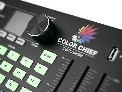 EUROLITE DMX LED Color Chief Controller Lichtsteuerung Lichtpult USB VIDEO