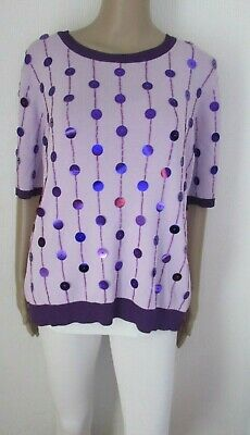 Nwt Purple Sequin Tunic Style Top Size 14/16