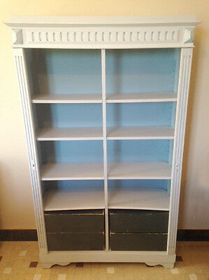 DECORATIVE OLD FRENCH SMALL BOOKCASE - c1900
