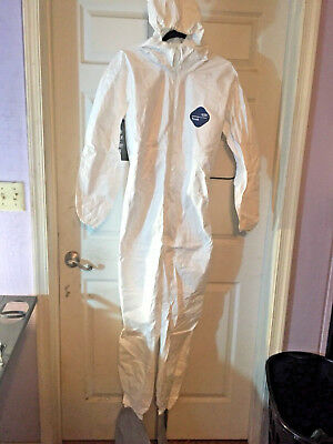 New Dupont Tyvek Coverall Bunny Suite w Hood and boots - TY122S / Size M Medium