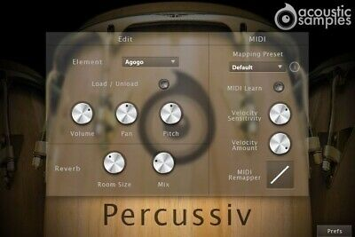 NEW ACOUSTICSAMPLES PERCUSSIV Percussion Collection UVI VST AU Mac PC  Software