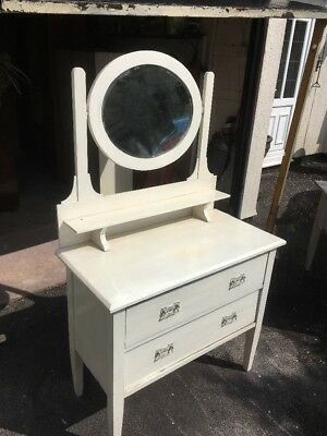 Antique Victorian Edwardian? Dressing Table With 2 Drawers