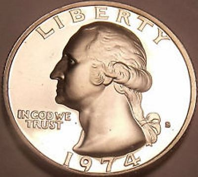 1974-S PROOF Washington Quarter, FROM US PROOF SET
