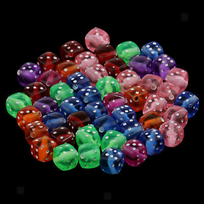 Fun Pack Acrylic Dice Beads 8mm To 10mm 62//Pkg-Assorted Colors 34734106