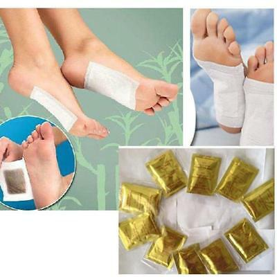 10X Detoxify Toxins Detox Foot Pads Patch Adhesive Keeping Fit Health Care^