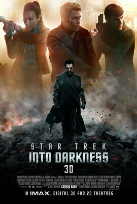 STAR TREK INTO DARKNESS MOVIE POSTER 2 Sided ORIGINAL Ver B 27x40 CHRIS PINE