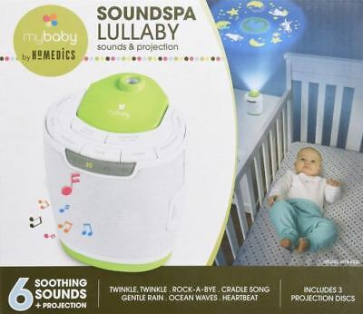 New MyBaby Soundspa Lullaby Sound Machine Projector Homedics Baby Night Light