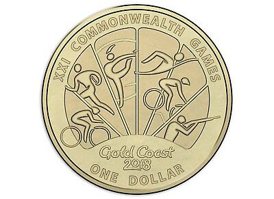 $1 one dollar coin 2018 - GOLD COAST XXI COMMONWEALTH GAMES - Design 3 - mint
