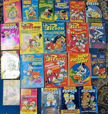 ★★★ lot 15 album Mickey Parade et 6 Picsou Magazine★★★