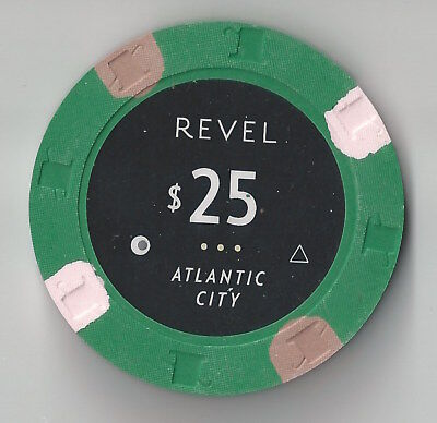 $25 Atlantic City Revel Casino Chip Brand New Opened Aprl 2012 And Now Closed