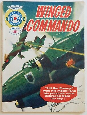 AIR ACE PICTURE LIBRARY #209 - 1964 (War, Commando, Battle)