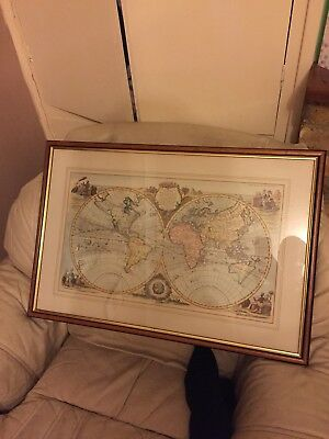 World Map Framed Picture 1772