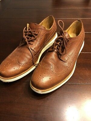 USED Mens Cole Haan OriginalGrand Long Wingtip Light Brown Size 11 FT C23441