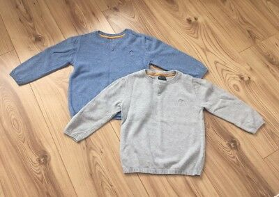 Next Baby Boys Jumpers X 2 (Grey And Blue) Age 18-24 months