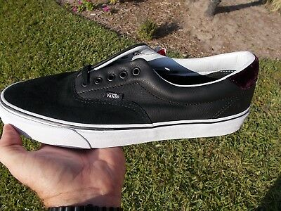 81cee262d8 VANS ERA LEATHER Plaid Rhubarb Black Men s 11 Skate Shoes New NIB ...