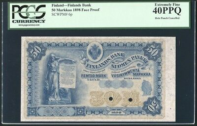Finland 50 Markkaa 1898 Face Proof P6p PCGS Extremely Fine 40PPQ